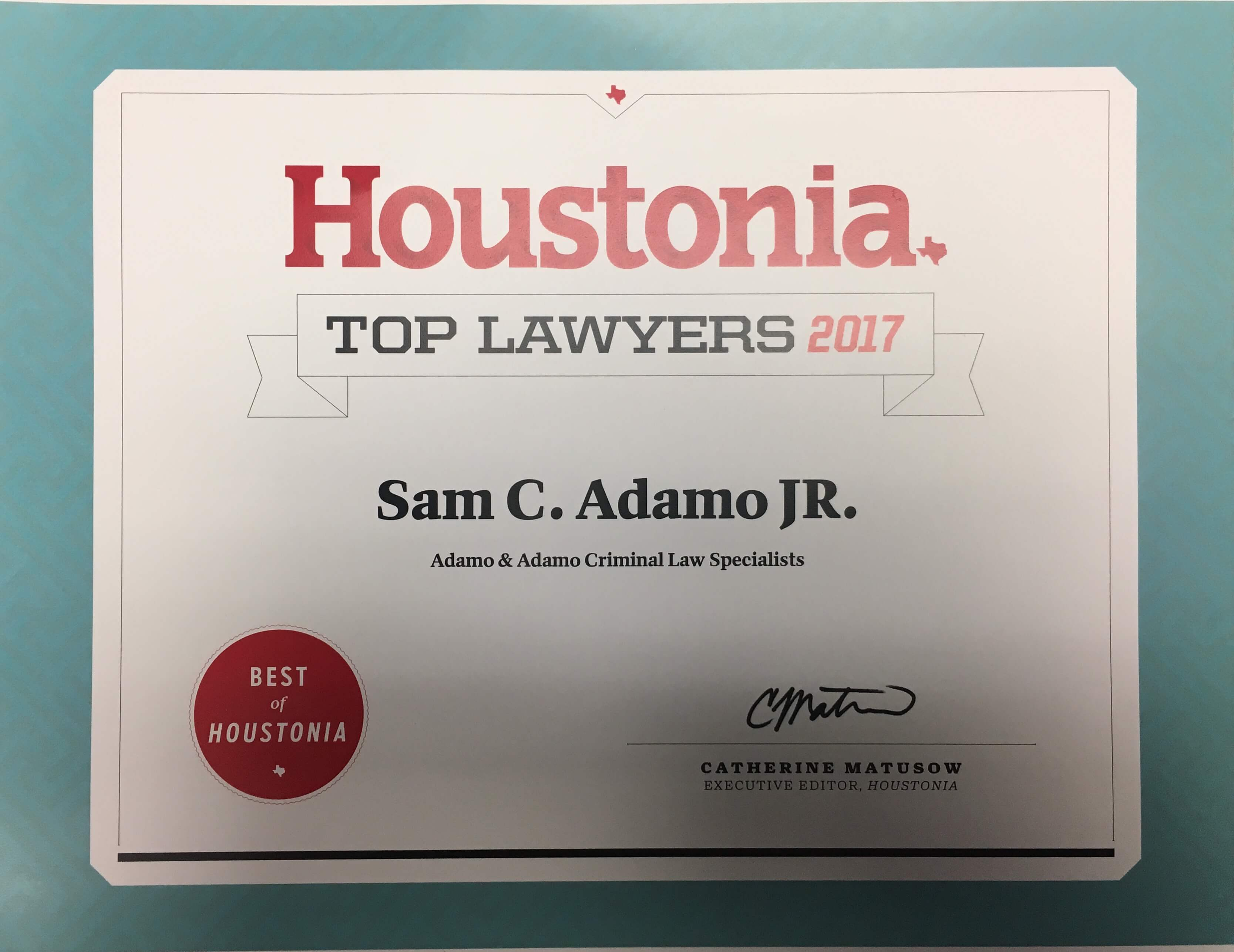 Top criminal defense and DUI Attorney in Houston